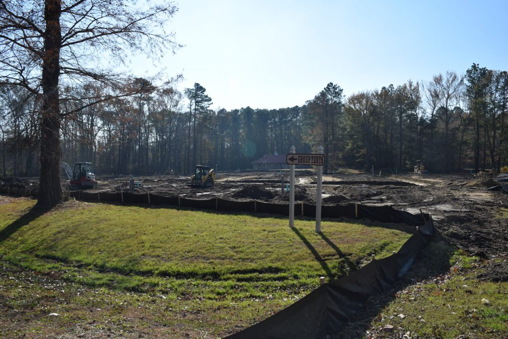 site work at Fort Whaley