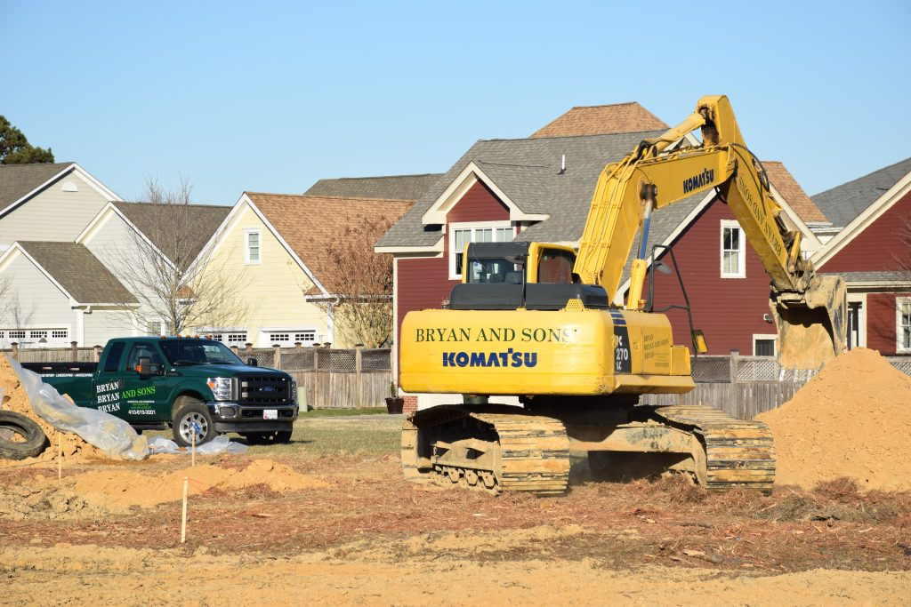 site work at Easton Village