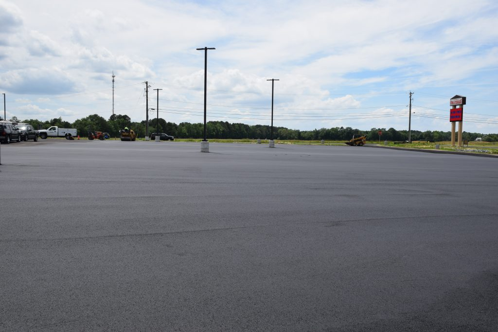 paving at Pittsville Ford