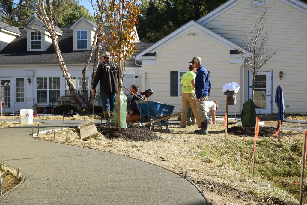 site work sidewalks at Candlelight Cove in Easton, MD