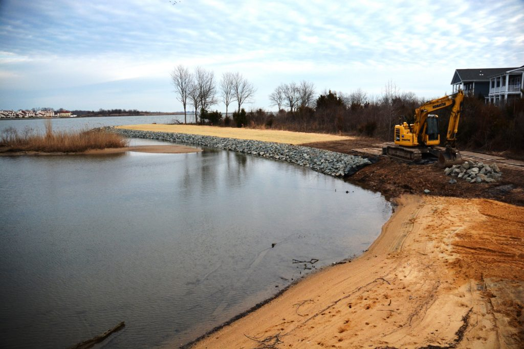 shoreline work at Gibon's Grant
